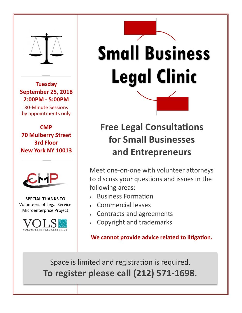 Small Business Legal Clinic - Legal documents for small business