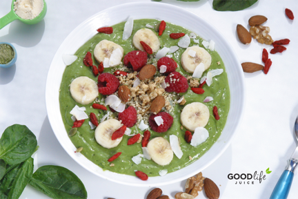Green Smoothie Bowl - perfect morning after meal following a juice cleanse