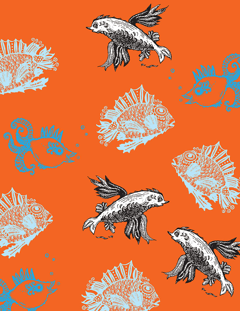 Fish orange BG pattern bedding web.jpg