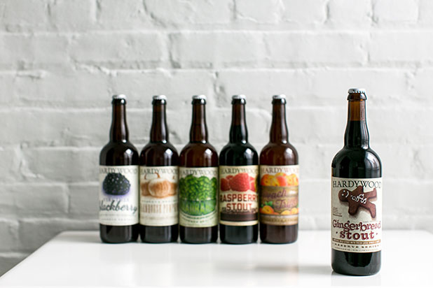 simple photo of set of beers made by hardywood park craft brewery