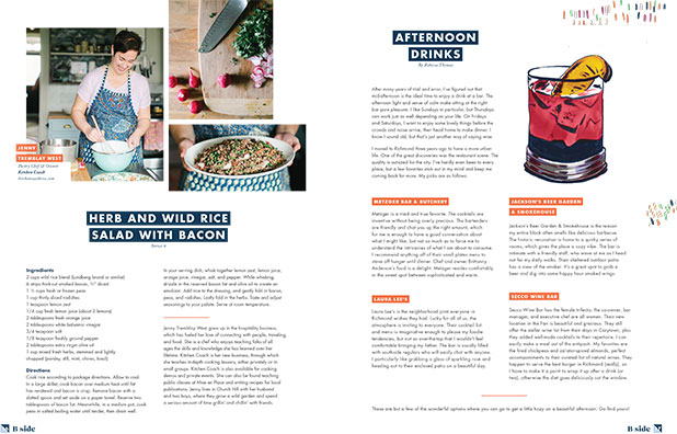 B Side volume two features stories about chefs and business owners in the RVA food and beverage industry - Sarah Der