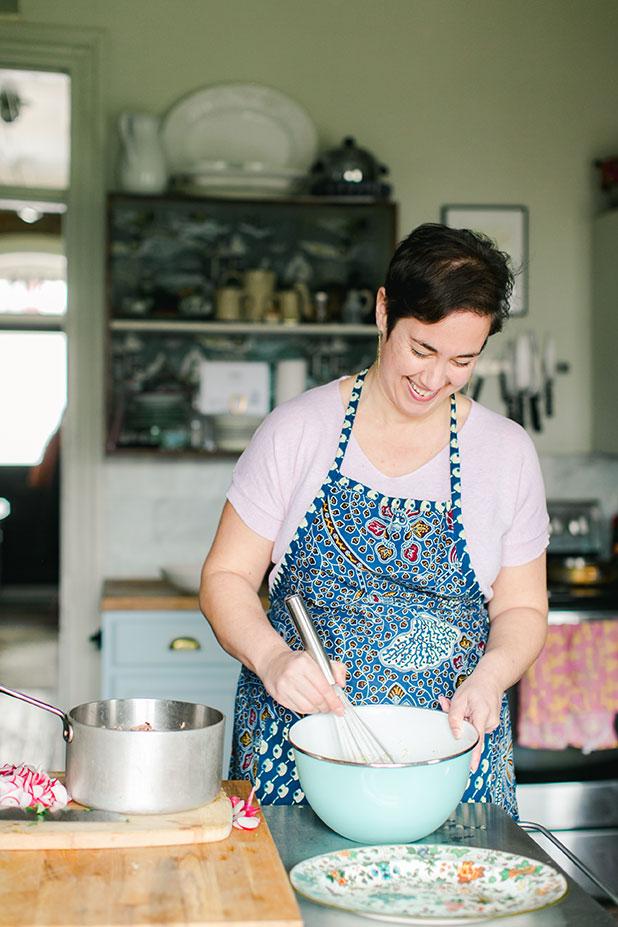Jennt Trembley West at home, featured recipe in B Side magazine - Sarah Der