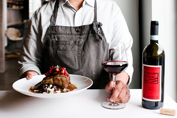 Richmond editorial photographer Sarah Der documents the wine and dish pairing at brenner pass