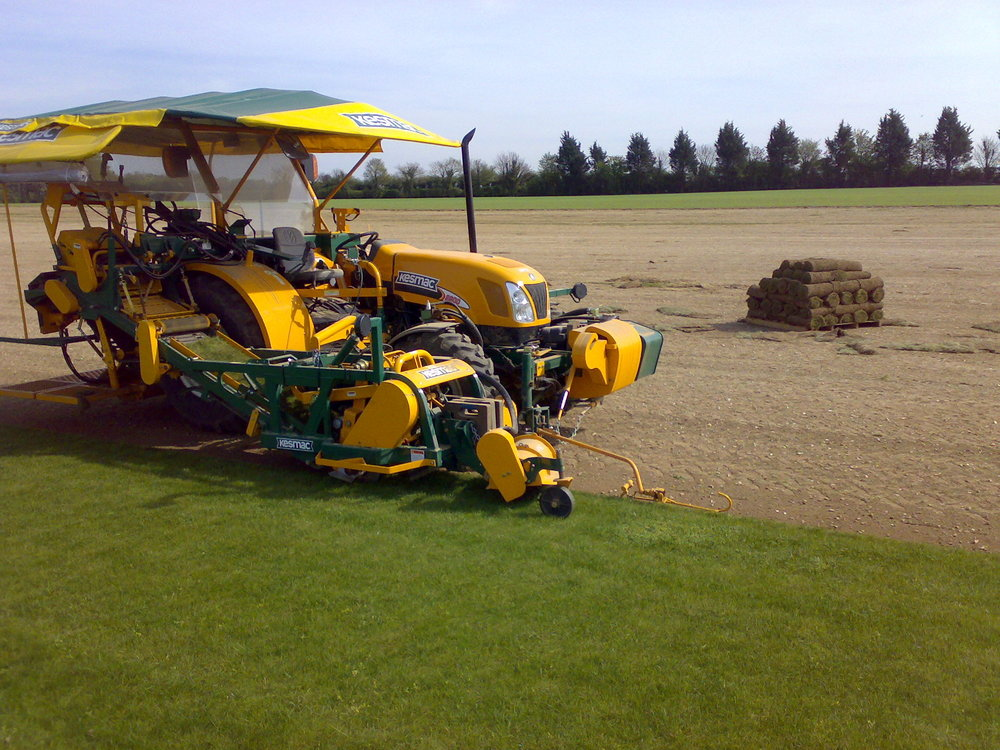 The self steering Kesmac turf harvester