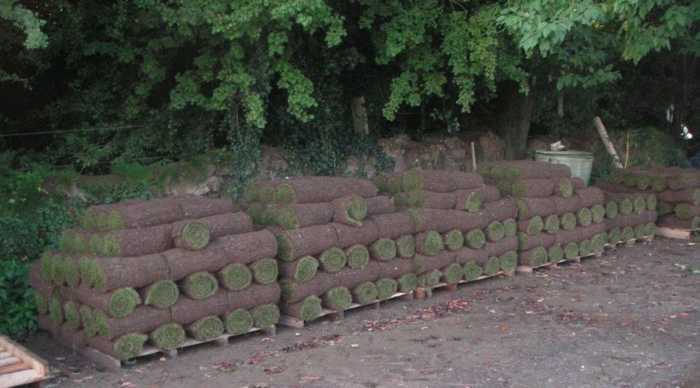 Our own Andover Turf, pre-ordered and ready for dispatch from Grateley