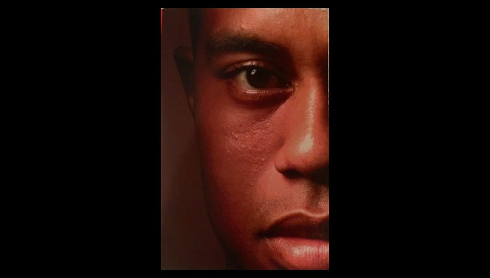 THE COVER OF THE NEW TIGER WOODS BOOK TITLED 'TIGER WOODS'