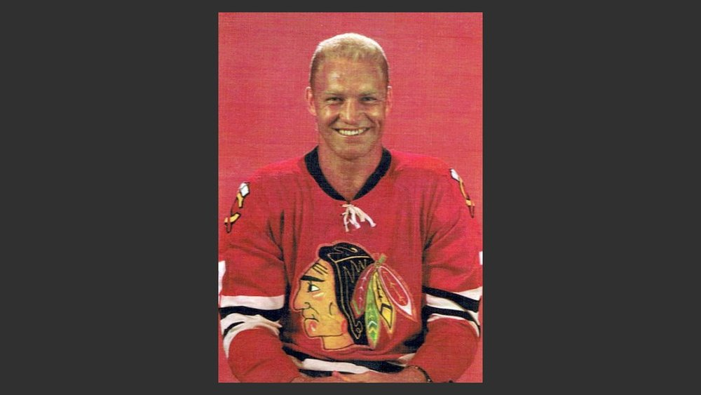 Bobby Hull played for the original Winnipeg Jets, starting in 1972. He and his son, Brett, who grew up in Winnipeg, are the only father-son tandem to score more than 50 goals in a season and 600 NHL career goals. Photo:  Wikimedia Commons