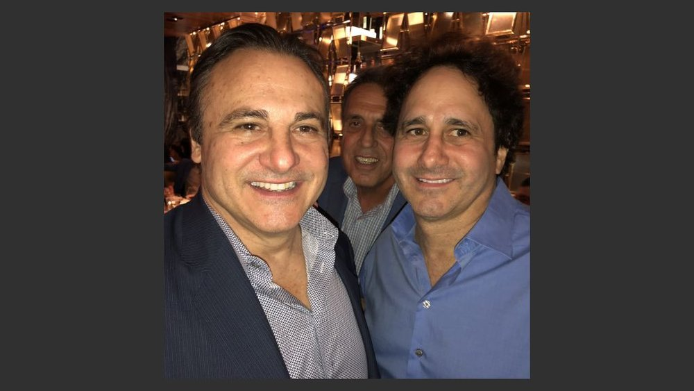 Gavin and George Maloof, minority owners of the Vegas Golden Knights and former owners of the Palms, with their family, attended the unveiling of the Palms, now owned the Fertitta family's Station Casinos. Photo: Norm Clarke