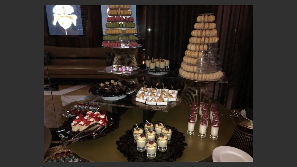 A sampling of the array of desserts at Scotch 80s steakhouse. Photo: Norm Clarke