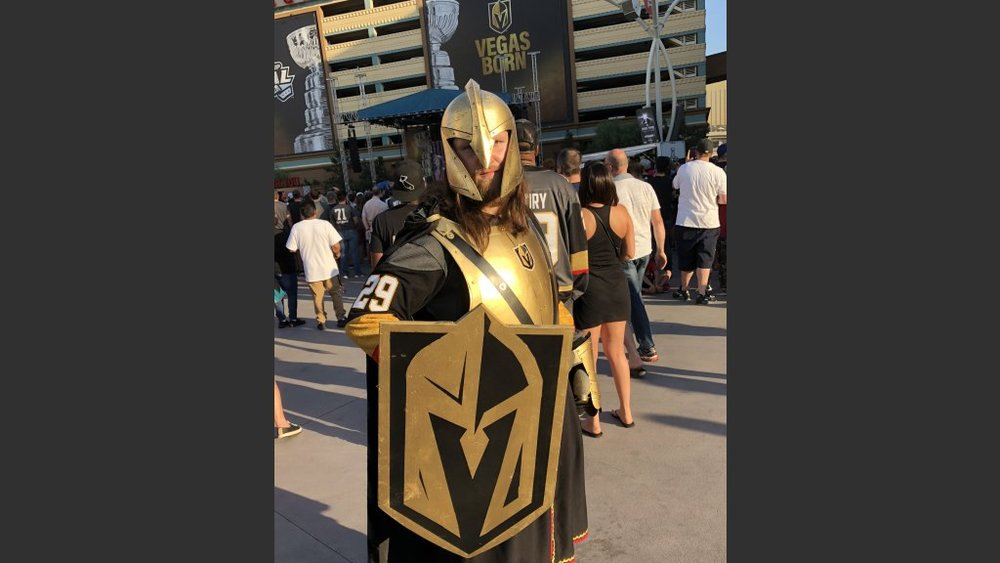 ROBERT RASCOVAC, 28, OF LAS VEGAS HAD A VERY COOL COSTUME BUT ADMITTED IT WAS VERY HOT INSIDE ON 100-DEGREE DAY. Photo: Norm Clarke