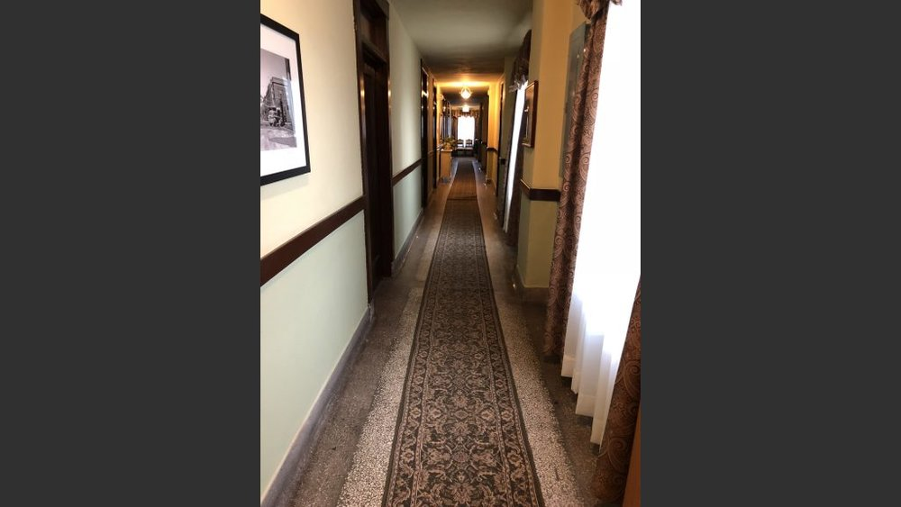 A hallway at the Murray Hotel.
