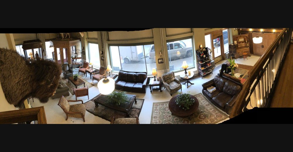 The lobby of the  Murray Hotel in Livingston, Montana . Anthony Bourdain ranked it among his Top 10 hotel experiences.