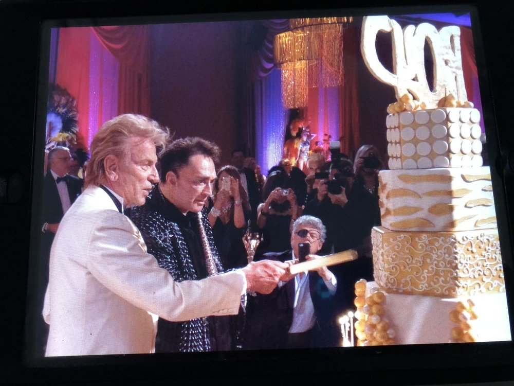 Siegfried and Roy, celebrating Roy's 60th birthday at The Mirage on Oct. 3, 2013.