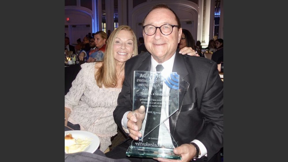 Longtime LVCVA executive Rossi Ralenkotter and his wife Mary Jo. He received the President's Award.