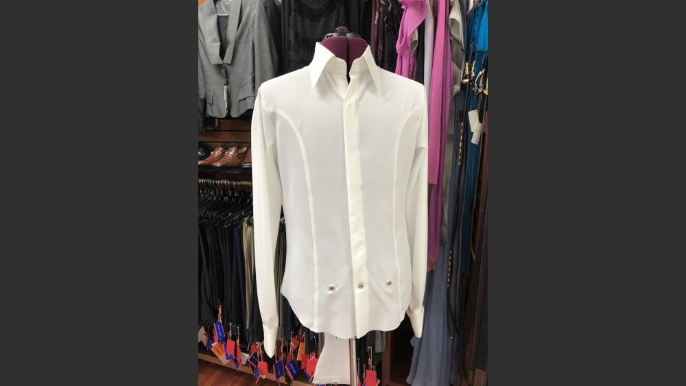 A custom-made shirt Yaghi made for Wayne Newton.
