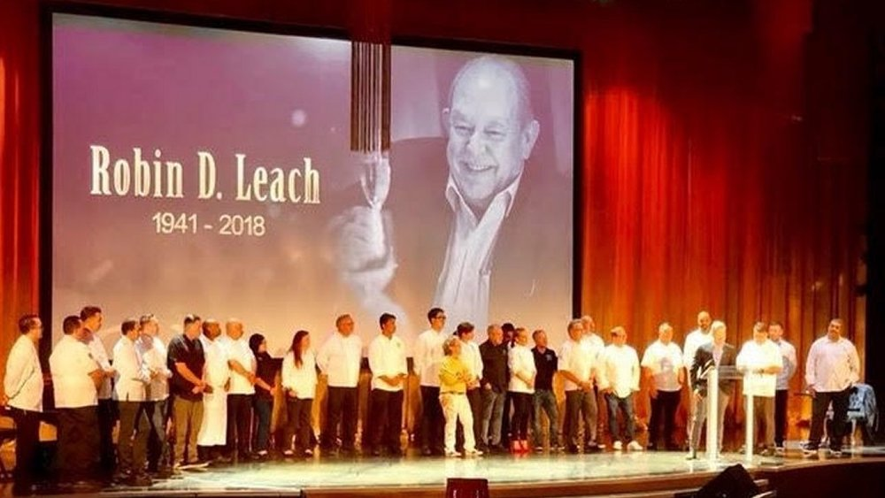 Thirty five chefs took the stage during a memorial honoring Robin Leach on Friday at The Palazzo Theatre. Courtesy photo