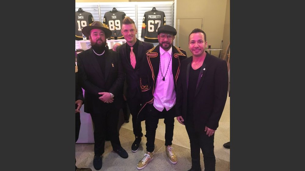 """Chumlee"" of ""Pawn Stars"" with the Backstreet Boys. Courtesy photo"
