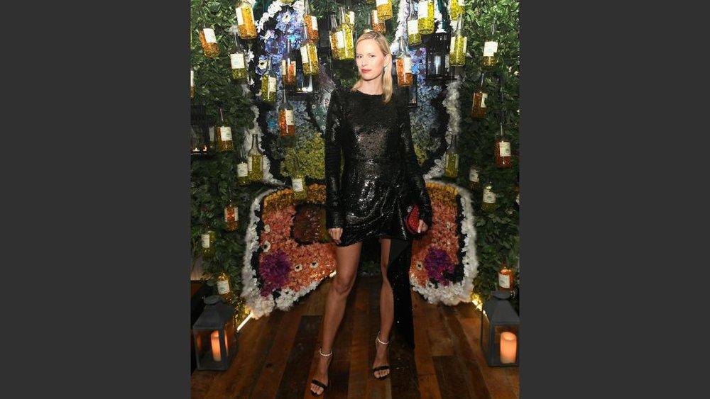 Supermodel Karolina Kurkova added her sizeable star power to the mega party.