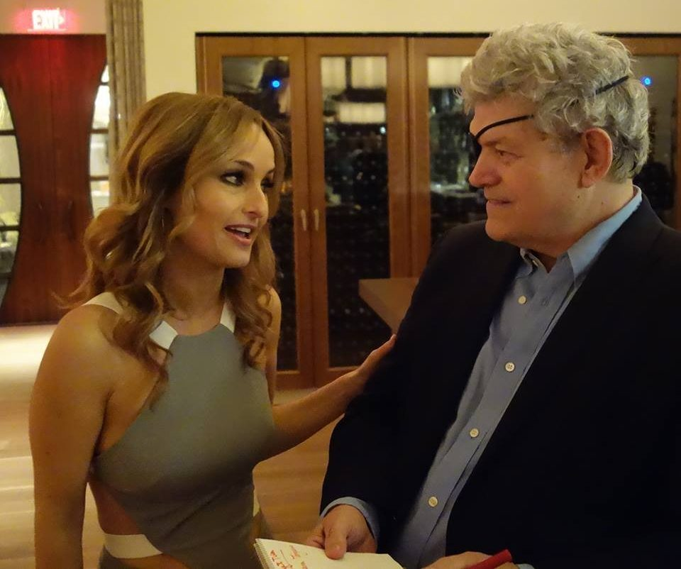 Interviewing Giada De Laurentiis at the opening of her first Las Vegas restaurant.