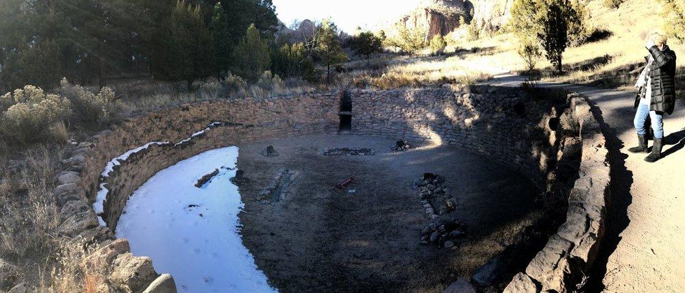 A kiva, where Pueblo Indians gathered for religious rites.