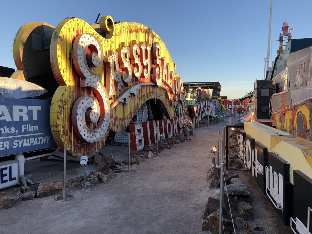 Sassy Sally's resided on Fremont Street. She was later named Vegas Vicky, a cowgirl who became Vegas Vic's sidekick.
