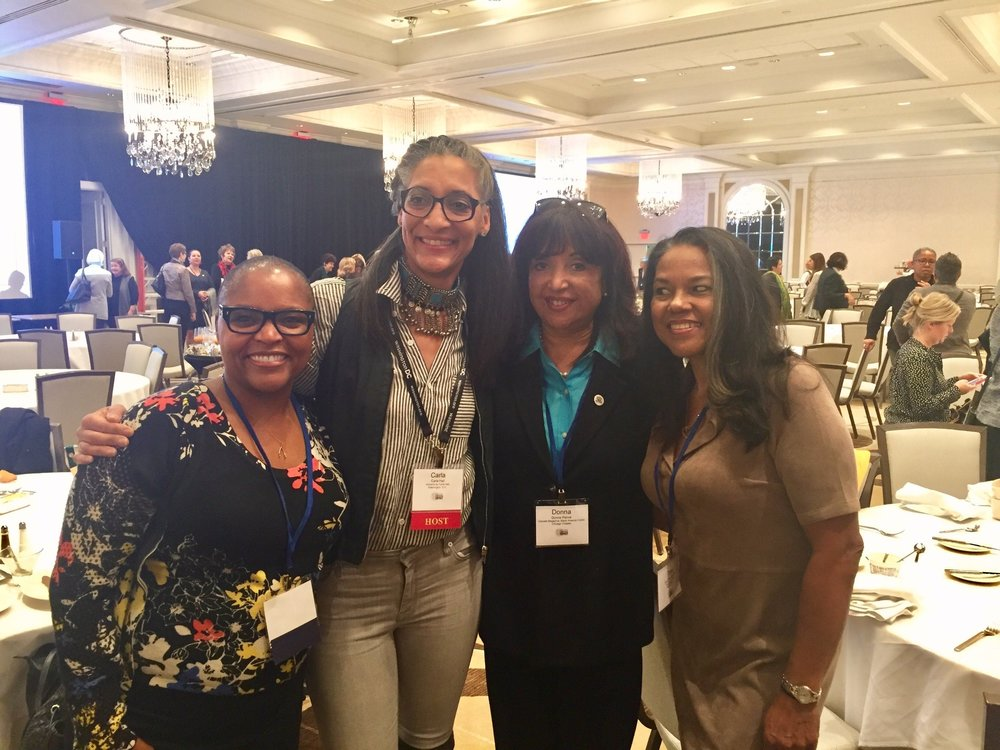 Grateful for inspiration from L-R: Tanya Holland, Carla Hall, Toni Tipton-Martin