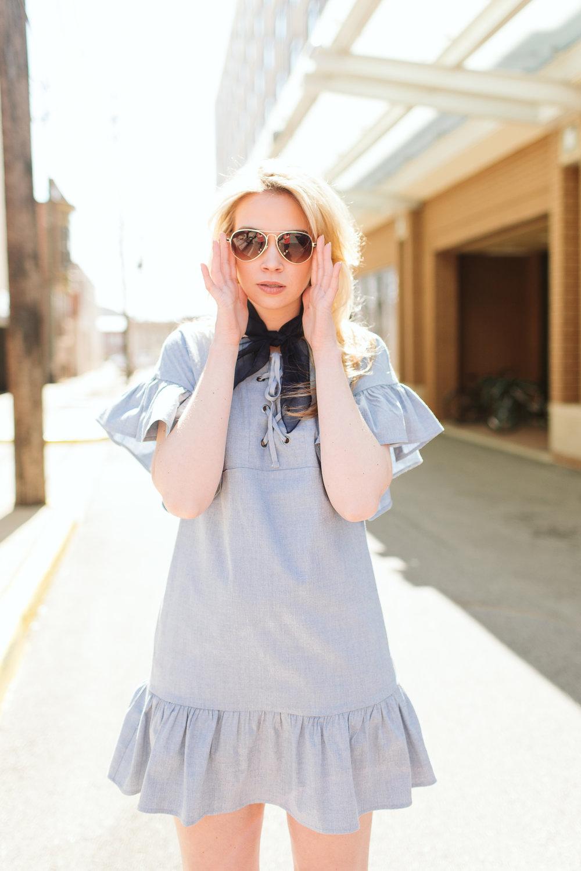 ASTIN RUFFLE SHIFT DRESS - Reviewed by Jenae
