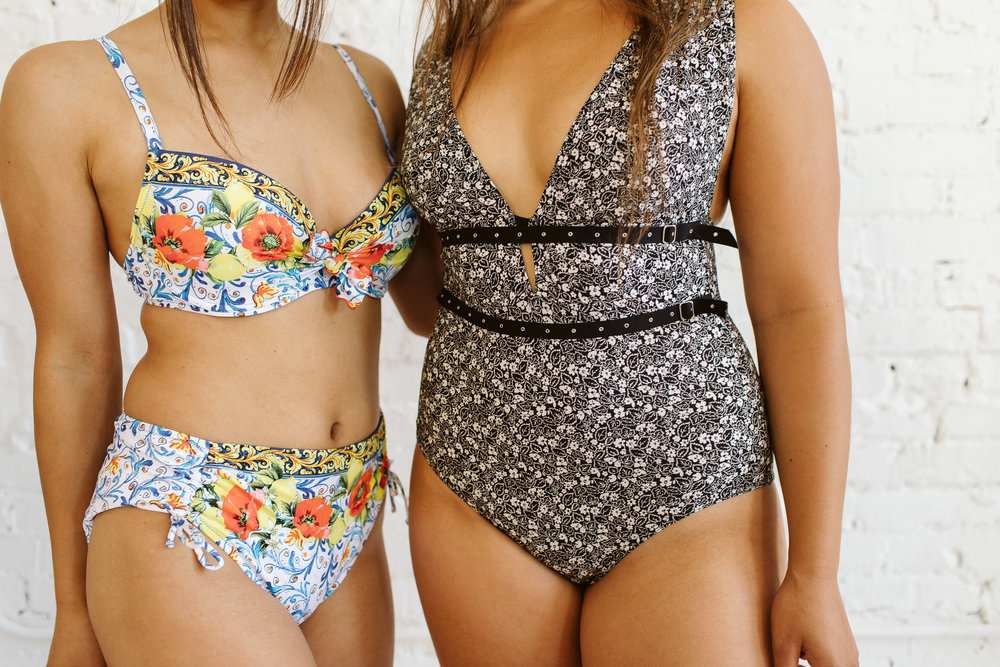 La Folie Azulejos Brazilian Bikini, Duchess of Dupont . Clous Microfloral Plunging V Neck One-Piece, Duchess of Dupont.