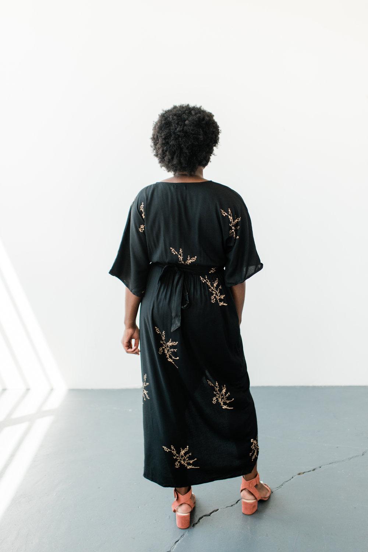 Cherry Blossom Kimono Maxi Wrap, Symbology Clothing