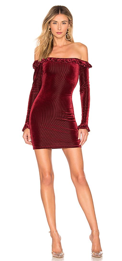 Danielle Off Shoulder Dress, Revolve.