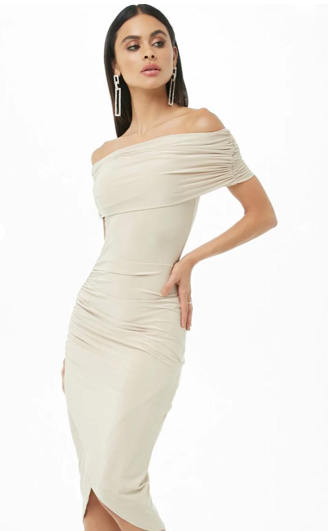 Ruched Off Shoulder Dress, Forever 21.