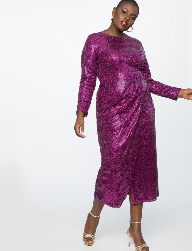 Sequin Maxi Dress, Eloquii.