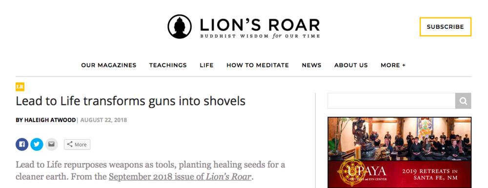 Lion's Roar - August 2018