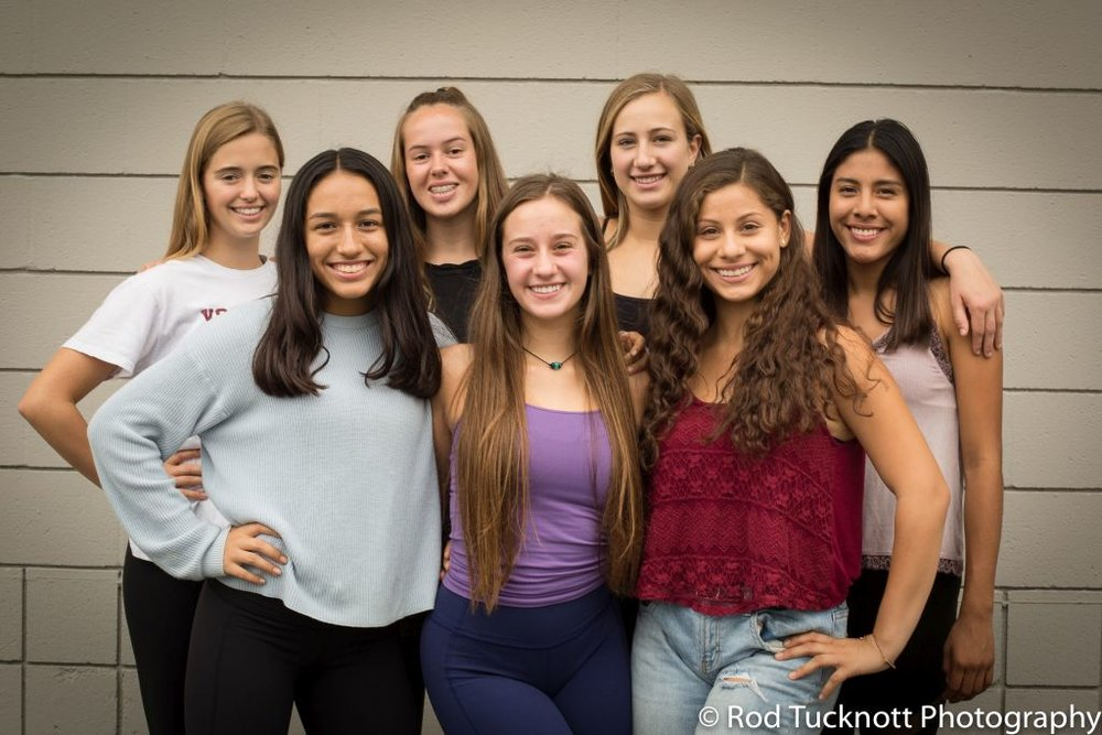 IMPULSE  Back Row: Anotnia Fields, Miller Reitherman, Isabelle Hughes, Laura Luevanos,  Front Row: Alejandra Cuevas, Morgan Fell (Captain), Emily Cornejo