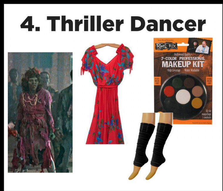 Zombies!! - Why be just a plain zombie, when youcan be a DANCING zombie.  Slash a red dress and roll it in the dirt.  Dramatic makeup, legwarmers, and scary faces will have you creeping and dancing all night long!