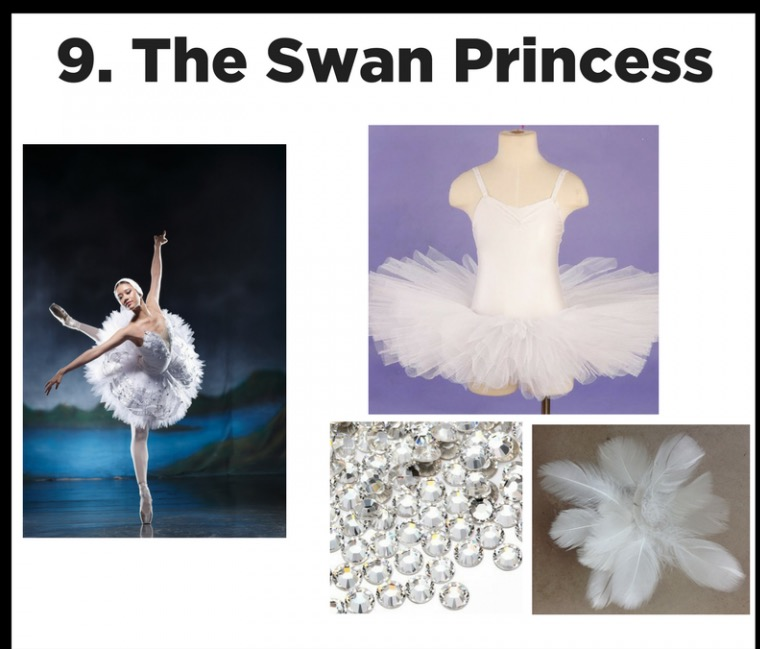 White Swan Black Swan - Good or evil? A simple tutu and leotard with feathered head piece can transform you into a ballet icon.