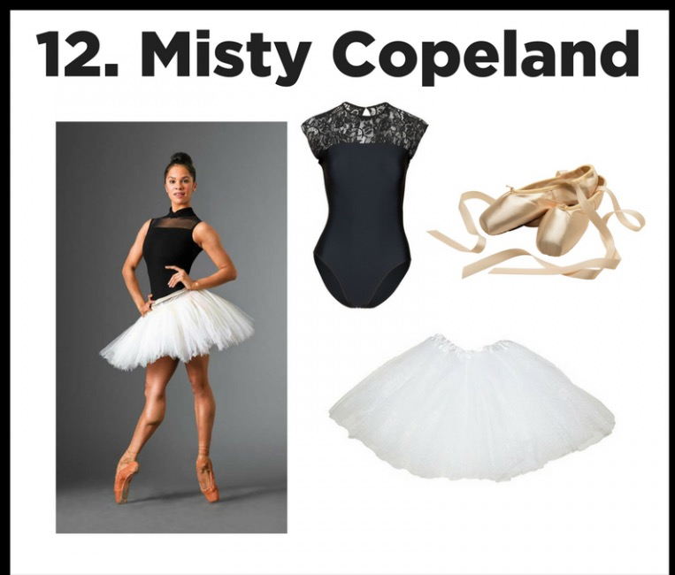 Power Girl - There is a reason this woman is the hero and inpsiration to thousands of girls. Breaking stereotypes and demonstrating power and grace, Misty is our girl hero!  A simple black leo, white tutu, bun, and ballet shoes will help you channel your inner powerhouse!