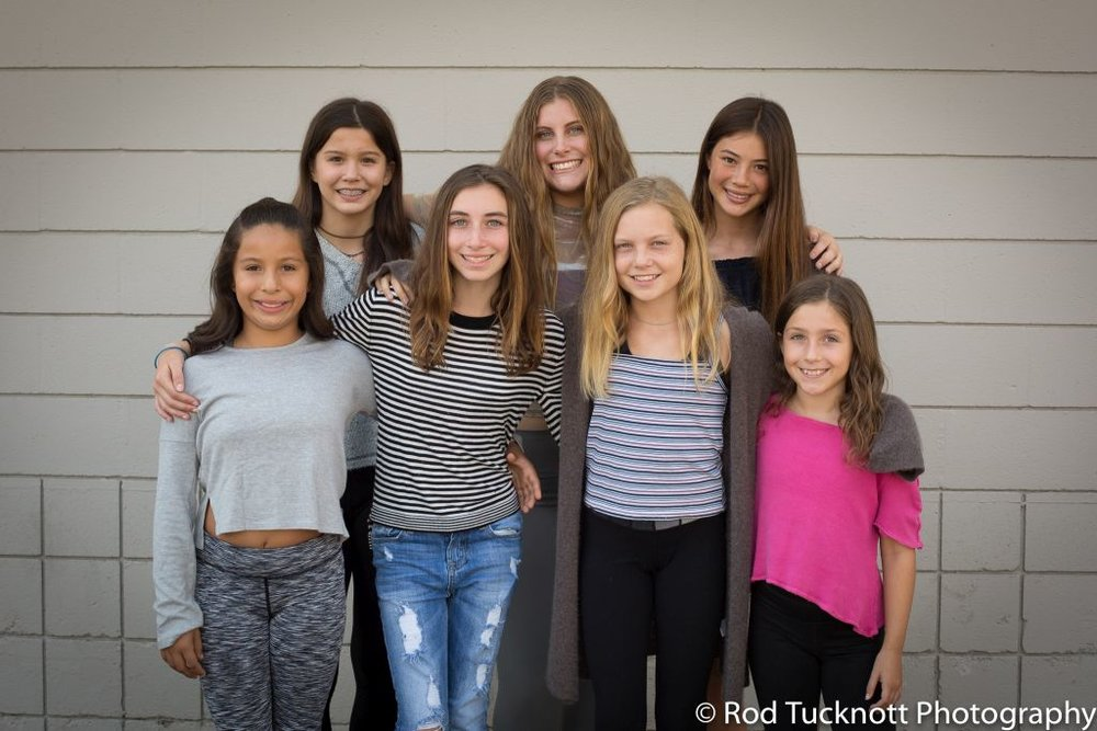 EMERGE Back Row: Violet Heyman-Fratus, Jessica Erickson, Mackenzie Byrd Front Row: Camila Cornejo, Bridget Blinderman, Ava Miller, Evelyn Wheeler