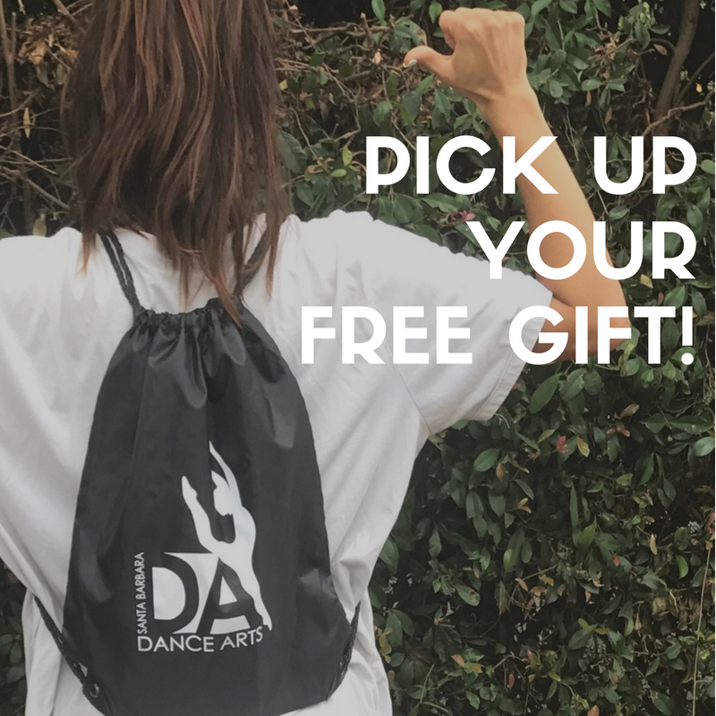 New to Dance Arts? Please come by the lobby to pick up your welcome gift!