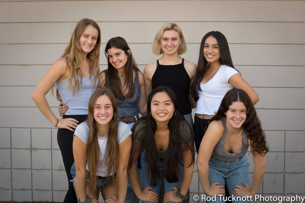 APEX  Back Row: Mya Chiarappa (Captain), Charley Goldstein, Frankie Harman, Lucy Cuevas Front Row: Morgan Fell, Audrey Zuck, Anabel Goldstein
