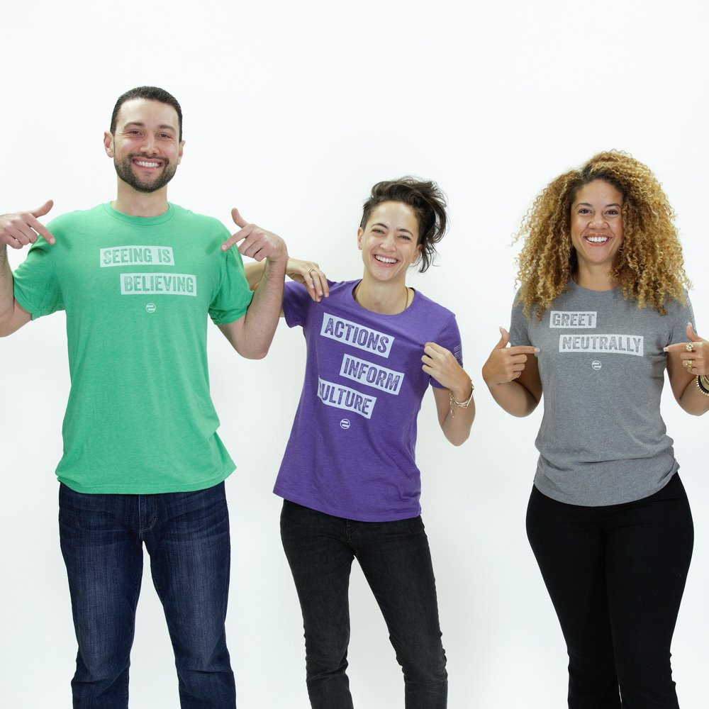PRODUCTS - We've got your sustainably-sourced, soft cotton tees and onesies!