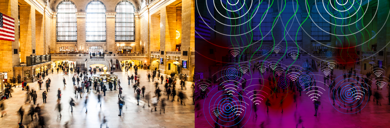WiFi, cellular, bluetooth, infrared, radio, and other waves are constantly weaving relationships between our smart devices.