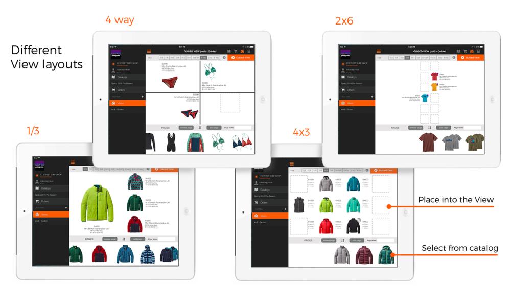 catalog layout options