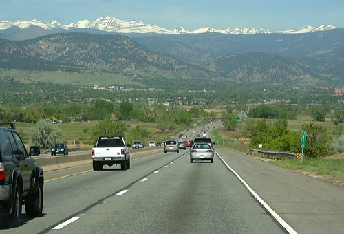 highway 36 cars commuting boulder