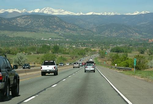 highway 36 cars commuting boulder