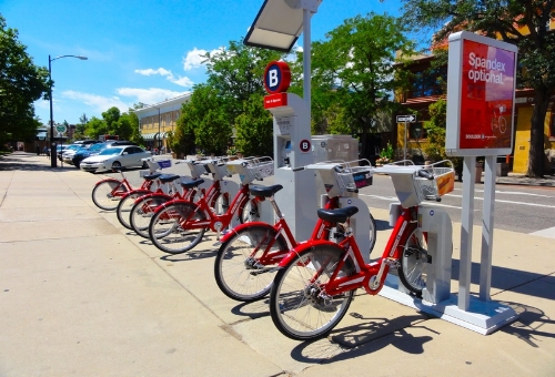 bicycle bike b-cycle park station