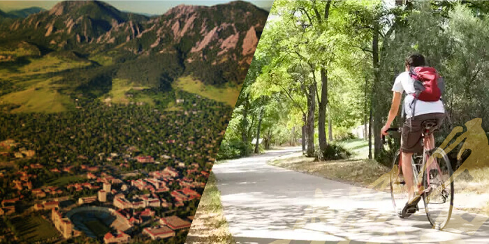 panoramic-view city-of-boulder person biking trail