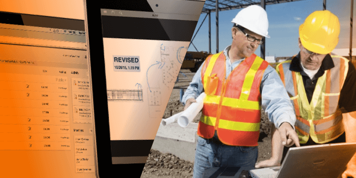 architect and civil engineers reviewing construction site