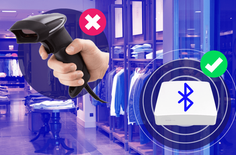 Barcode scanners are not IoT, while BLE beacons are.