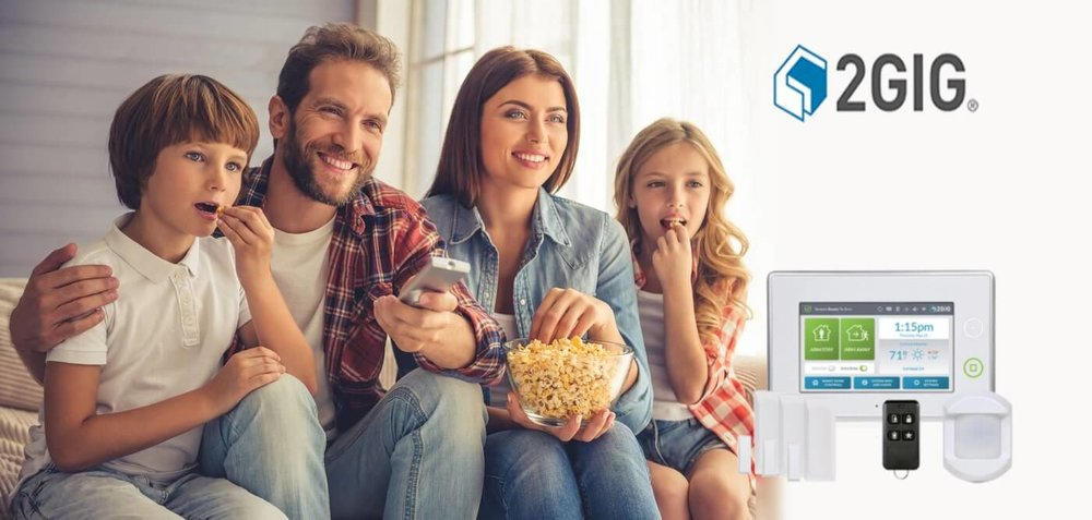 family at home protected by 2gig brand products